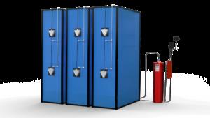 Li-IonFire™ -brann beskyttelsessystem for batteri- lagringsstasjoner